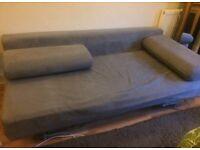 MUJI grey 3 seater sofa bed