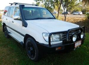 2004 Toyota Landcruiser HDJ100R GXL White 5 Speed Manual Wagon Hidden Valley Darwin City Preview