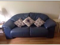 Real Leather 3 Piece Suite Couch and 2 armchairs ( sofa armchair) genuine Italian leather