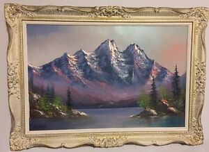 """Original Signed Framed Oil Painting by Benny Spagnolo 42"""" x 30"""""""