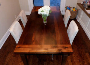 HARVEST AND TRESTLE TABLES BUILT FROM SCRATCH