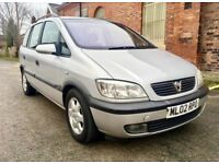 2002 Vauxhall Zafira 2.0 Dti Diesel. 7 Seater Drives Superb. Mpv Opel.