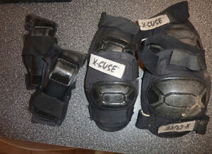 Adult safety gear for rollerblading
