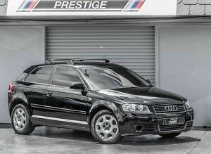 2004 Audi A3 8P 1.6 Attraction Black 6 Speed Tiptronic Hatchback Albion Brisbane North East Preview