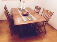 Dining Table, chairs and cabinet LIKE NEW