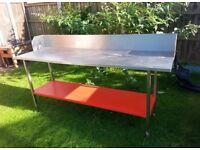 Stainless steel worktop table