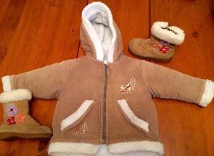 Duo manteau et bottes enfant (2-3 ans)