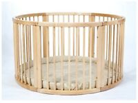 BABY PLAYPEN Wooden Round safety play pen ATLAS UNO
