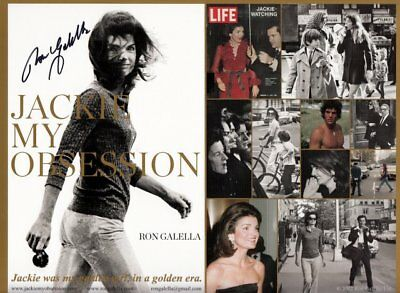 "Ron Galella (USA) Paparazzo ""windblow Jackie Kennedy"" original signiert/signed !"