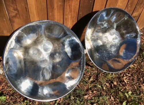 Double Lead Steel Drum Set, 2 Chrome Plated Drum. Amazing Sound !