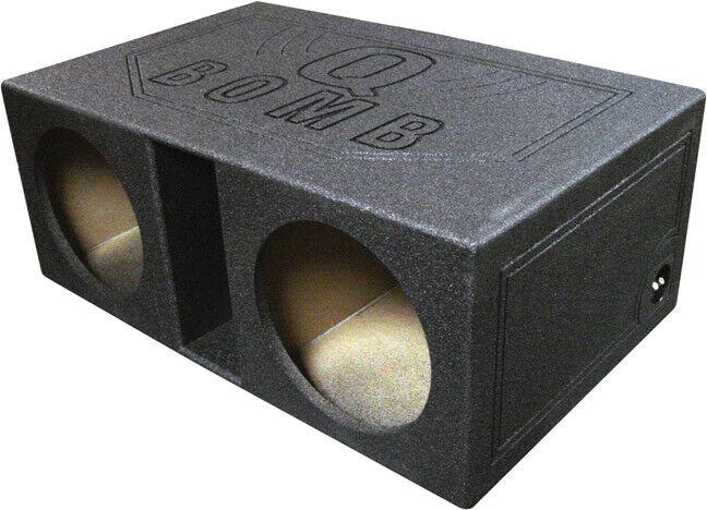 "QPOWER QBOMB12VL Qpower Dual 12"" Vented Extra Large SPL Woofer Box ""Q Bomb"""