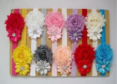 10pcs Infant Baby Girls Newborn Flower Headband Hairband Hair Accessories Bow