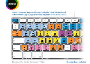 Miuxe - Avid Media Composer Keyboard Stickers/Mac