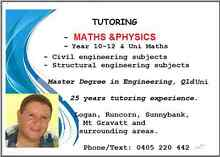 MATHS  (A, B  & C ) +  PHYSICS Tutoring  Year 10 – 12 Springwood Logan Area Preview