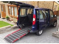 Fiat Doblo wheelchair accessible with easy use ramp - 9,800 miles, MOT til Jul 2017- Full Serv Hist