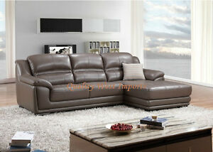Top Grain Real Leather Sectional Sofa, 3 different colors