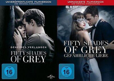 Fifty Shades of Grey 1+2 # 2-DVD-SET-NEU