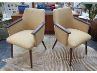 A Pair of Vintage East German Armchairs