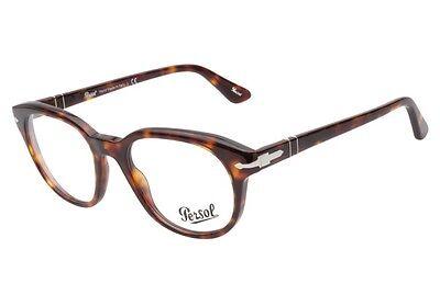 Persol Designer Mens Eyeglasses 3052V 24 Havana Brown Frame 52mm New Italy RX