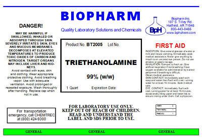 Triethanolamine 99% w/w   1 Quart