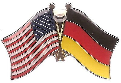 LOT OF 12 Germany Friendship Flag Lapel Pins - German Crossed Flag Pin