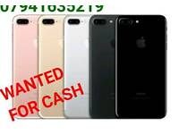 WANTED * APPLE IPHONE 7 PLUS 6S PLUS IPHONE SE 5S 5C LOCKED UNLOCKED EE O2 VODAFONE