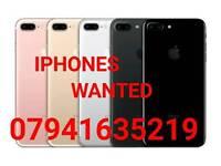 WANTED * APPLE IPHONE 7 PLUS 6S PLUS IPHONE SE 5S 5C LOCKED UNLOCKED EE O2 VODAFONE
