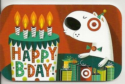 Target Bullseye Dog Cartoon Birthday Cake Candles 2012 Gift Card 790-01-1879](Target Birthday Cakes)