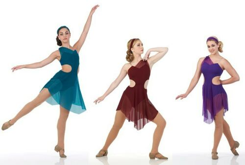 Bliss Lyrical Ballet Costume Dance Contemporary Dress Girls CXS- Adult XL Sizes
