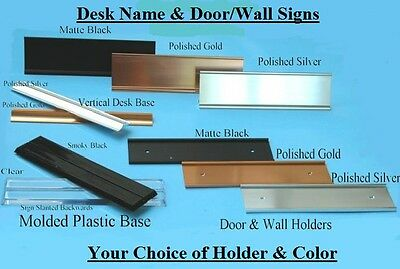 Your Choice Laser Engraved Desk Door Or Wall Name Plate. 25 Colors 50 Fonts