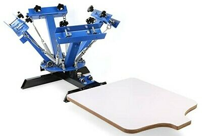 Silk Screen Printing Machine 1 Station 4 Color Screen Printing For T-shirt Diy