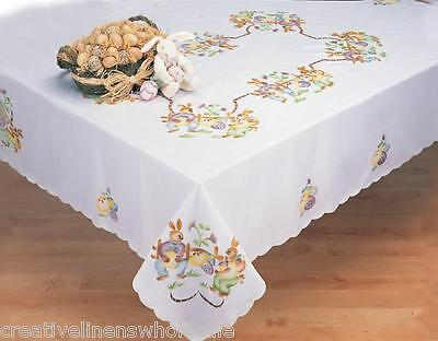 Easter Tablecloth (Easter Bunny Egg Spring Fabric Tablecloth Rectangular Round Creative)