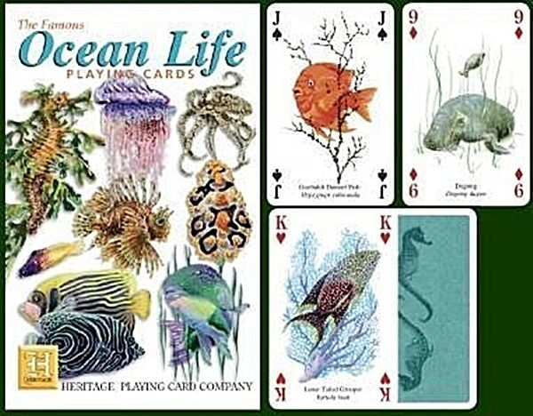Ocean Life Set Of 52 Playing Cards + Jokers (Hpc)