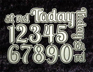 All Occasion Dies - Numbers and Words Set, Metal Dies, Robert Addams Papercrafts