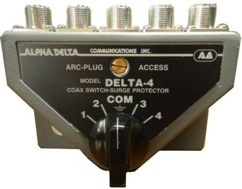 ALPHADELTA DELTA-4B 4-Position Coax Switch with SO-239 (UHF) Connectors