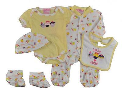 Take Me Home Newborn Girls Baby Cakes 5pc Layette Set Size 0