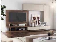 Modern Matt Sand / Wood Veneer Wall Storage System RRP £3130 50% OFF