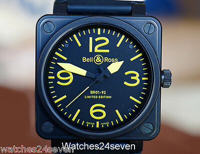 Bell & Ross BR01-92 Aviation Base LTD PVD & Yellow 46mm, Retail $6,000