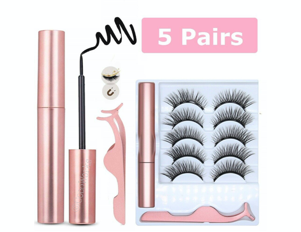 10 Pcs Magnetic False Eyelashes Lashes with Magnetic Liquid