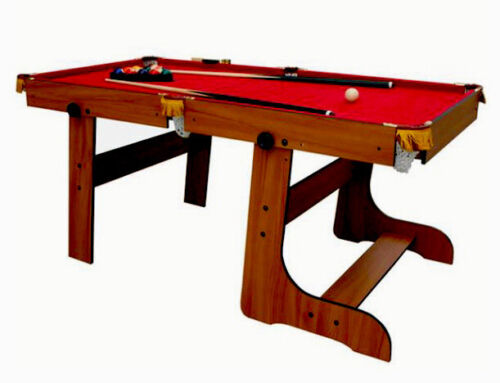 DUKE 6ft folding snooker pool table with Red Cloth