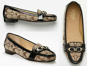 NIB AUTH SIGNATURE COACH ELOISE LOAFER SHOES - Sz. 8.5 (Over 40% Off Retail)