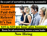 $15-$25hr. FUN PLACE, GREAT ENVIRONMENT SURVEY AGENT NO SALES RE