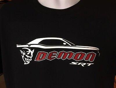 2018 Dodge Challenger Silhouette Demon Srt Hellcat Muscle Car T Shirt