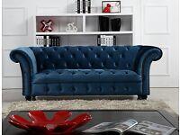 New Velvet Chesterfield Sofa
