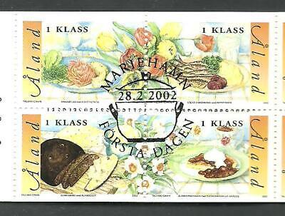 ALAND - FOOD, local dishes, Åland Islands stamp set 2002, used