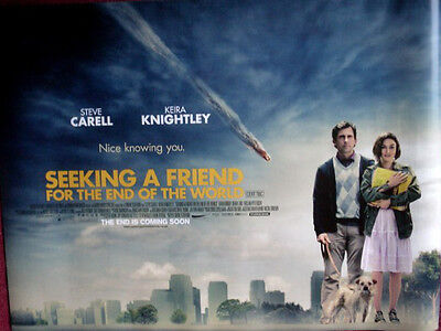 Cinema Poster: SEEKING A FRIEND FOR THE END OF THE WORLD 2012 (Quad) SteveCarell