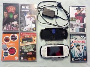 PSP System and games/acc lot
