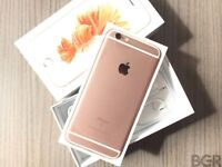 APPLE IPHONE 6S 64GB O2 GIFFGAFF TESCO BRAND NEW CONDITION BOX ROSE GOLD SPACE GREY WARRANTY