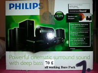 theater and subwoofer