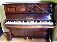 Churchill Upright Piano - Chappell & Co Iron Frame